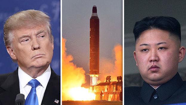 El presidente de Estados Unidos, Donald Trump y el líder norcoreano Kim Jong-Un. (CC)