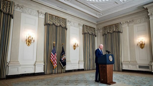 El presidente de Estados Unidos, Joe Biden. (EFE/EPA/Jim Lo Scalzo)