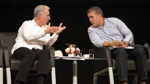 Uribe y Duque se reúnen en Miami con representantes del exilio cubano. (EFE)