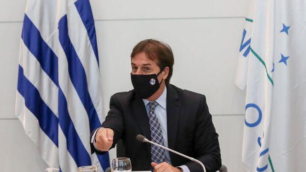 El presidente de Uruguay, Luis Lacalle Pou. (EFE/Raúl Martínez)
