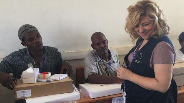Elena Valenciano, jefa de la Misión de Observación Electoral de la Unión Europea en Haití. (Twitter/ @ElenaValenciano)