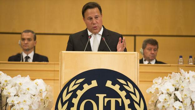 El presidente de Panamá, Juan Carlos Varela, en una reunión de la Conferencia Internacional del Trabajo el pasado junio. (ILO/CC)