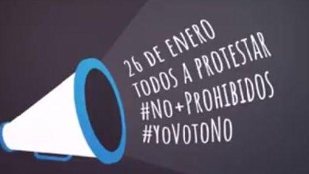 Varias organizaciones de cubanos residentes en otros países han decidido adherirse a la convocatoria manifestándose en las sedes diplomáticas de los Estados en que viven. (YouTube)