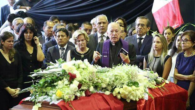 Velatorio del expresidente del Perú, Alan García. (ANDINA/Juan Carlos Guzmán Negrini)