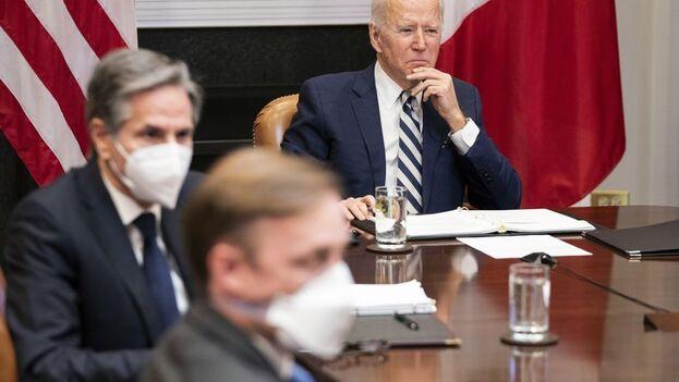 """""""Vemos a México como un igual, no como alguien que está al sur de nuestra frontera"""", dijo Biden para marcar el tono. (EFE)"""