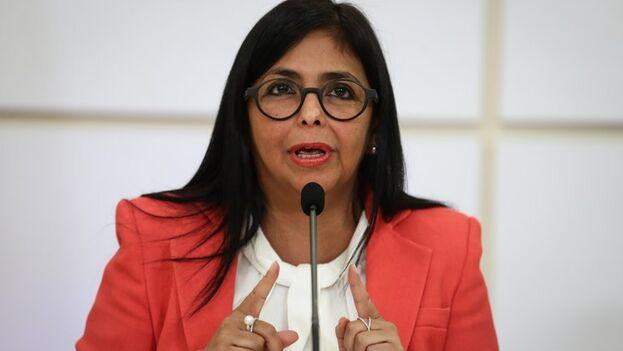 En la imagen, la vicepresidenta ejecutiva de Venezuela, Delcy Rodríguez. (EFE/Rayner Peña)