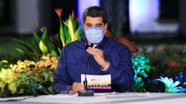El mandatario de Venezuela, Nicolás Maduro, durante un acto de gobierno en Caracas. (EFE/Prensa Miraflores)