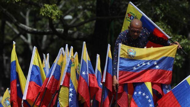 En septiembre hubo un promedio de 40 protestas diarias en Venezuela, un incremento del 68% respecto al mismo mes de 2019, detalla el informe del OVCS. (EFE/ Miguel Gutiérrez /Archivo)