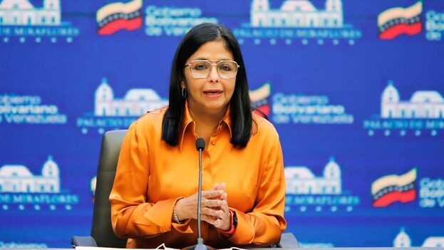 La vicepresidenta ejecutiva de Venezuela, Delcy Rodríguez, en Caracas. (EFE/Prensa Miraflores)