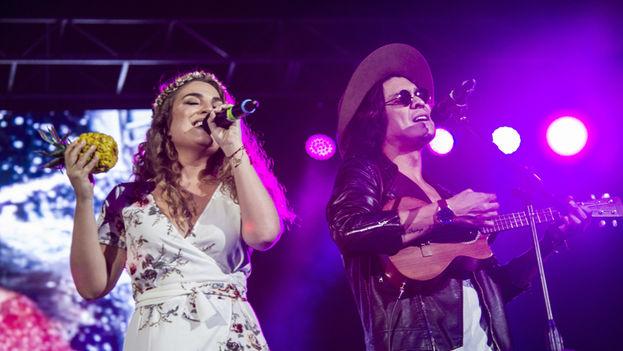 """""""Venezuela libre"""": el grito que retumbó en un concierto benéfico en Miami. (EFE)"""