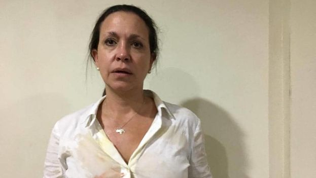La líder de Vente Venezuela sostiene que el Gobierno tiene un plan contra su integridad física. (VV)