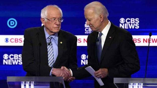 La pugna ya está entre el senador de Vermont, que representa al sector más izquierdista, y el el exvicepresidente, del grupo más moderado.