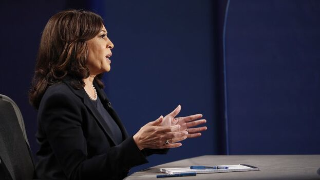 La candidata demócrata a la Vicepresidencia de EE UU, Kamala Harris. (EFE/EPA/Shawn Thew/Archivo)
