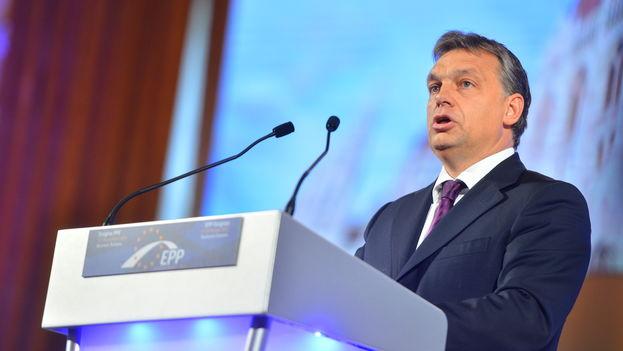El presidente húngaro, Viktor Orbán, en un encuentro del Partido Popular Europeo al que pertenece. (CC)