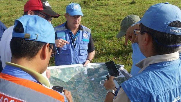 Visita técnica del proceso de verificación en las zonas de desarme de las FARC. (@ComisionadoPaz)