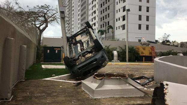 Vista de los daños causados tras el paso del huracán María. (EFE)