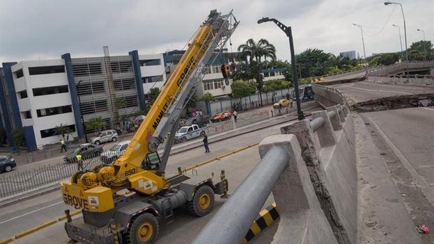 Vista de los daños en varias viviendas en Guayaquil. (EFE)