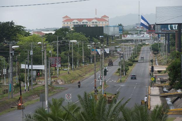 Vistas de Managua en paro. (Confidencial)