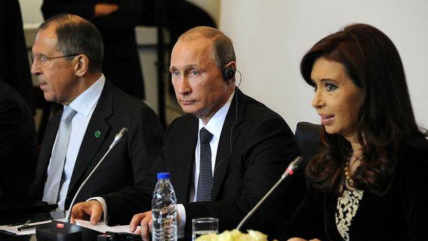 Vladimir Putin y Cristina Fernández en Buenos Aires. (KREMLIN)