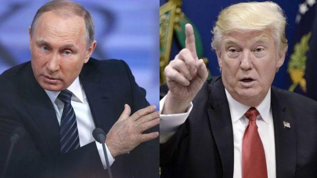 Vladimir Putin le agradeció a Donald Trump la colaboración que le prestó la CIA a los servicios de seguridad de Rusia para evitar un atentado terrorista de índole yihadista en San Petersburgo. (EFE)