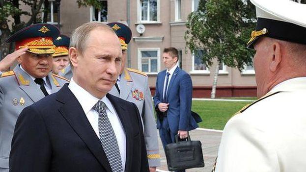 Vladimir Putin durante el día de las Fuerzas Armadas, el pasado 26 de julio. (@KremlinRussia_E)