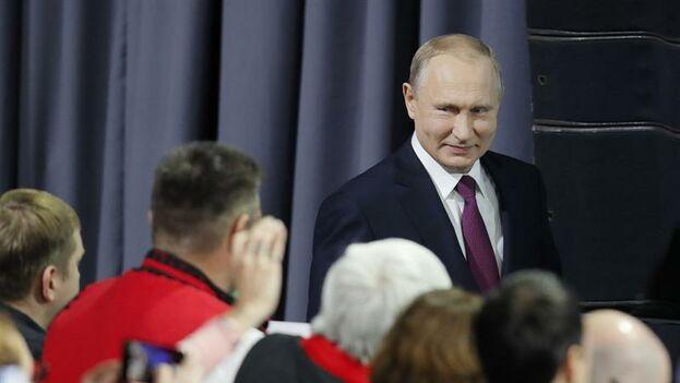 Vladimir Putin, presidente de Rusia en rueda de prensa. (EFE)
