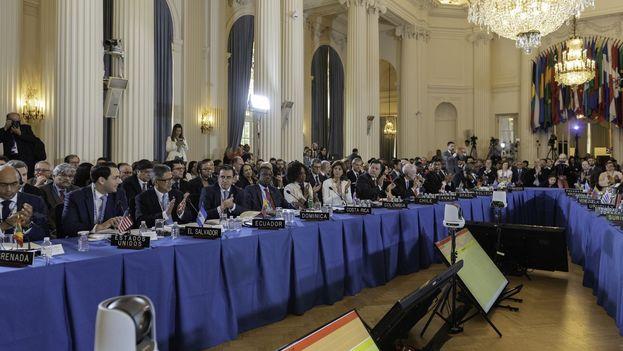 Este lunes y martes se celebra en Washington el 48 Período Ordinario de Sesiones de la Asamblea General de la OEA. (@Minrel_Chile)