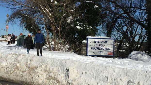 Washington bajo la nieve