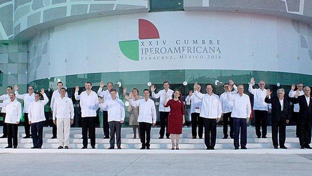 Los asistentes a la XXIV Cumbre Iberoamericana de Veracurz. (TWITTER)