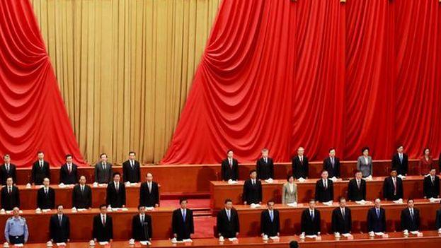 El presidente chino, Xi Jinping, durante el evento para celebrar el aniversario número 200 del nacimiento del filósofo alemán Karl Marx. (EFE)