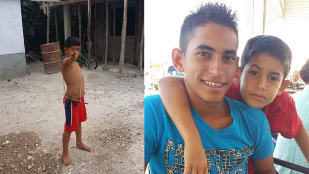 Los hermanos Yusdiel y Kevin, de 20 y 11 años respectivamente, están entre el medio centenar de balseros cubanos detenidos. (Cortesía)