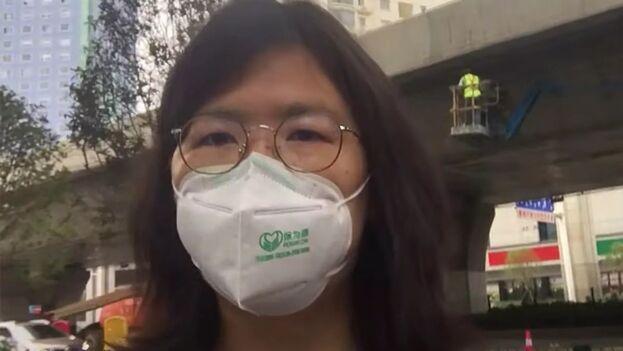 La periodista china Zhang Zhan se negó a aceptar los cargos al considerar que sus informaciones no deberían ser censuradas. (Twitter)