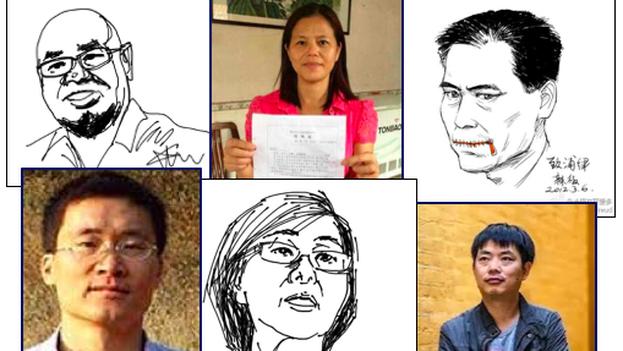 Algunos de los activistas detenidos el pasado 2015. (Chinese Human Rights Defenders)