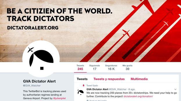 Dos suizos alertan a través de su cuenta en la red social Twitter sobre la presencia de dictadores en Ginebra. (Twitter)