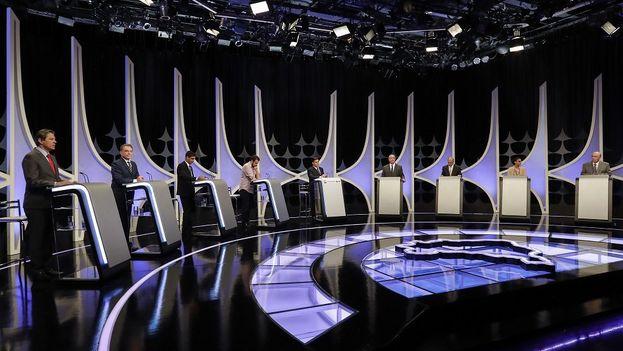 El de ayer fue el antepenúltimo debate previo a las elecciones, uno más sin el candidato que va primero en las encuestas.