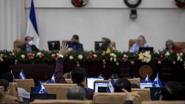 La ley fue aprobada durante una sesión extraordinaria con 70 votos de los sandinistas y sus aliados. (EFE)