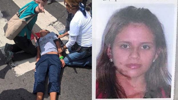 Dos jóvenes son asesinados en medio de las protestas que sacuden a Venezuela este 19 de abril. (Montaje 14ymedio)