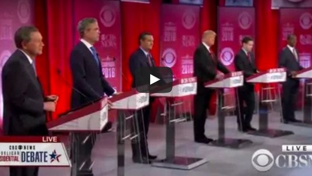 Los seis aspirantes a la nominación republicana para las elecciones de noviembre en EE UU. (captura de pantalla)