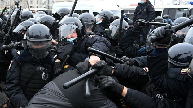 Las autoridades rusas advirtieron que las manifestaciones convocadas para el sábado no estaban autorizadas. (EFE)