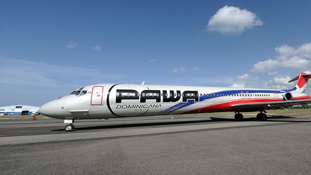 Un avión de Pawa Dominicana.