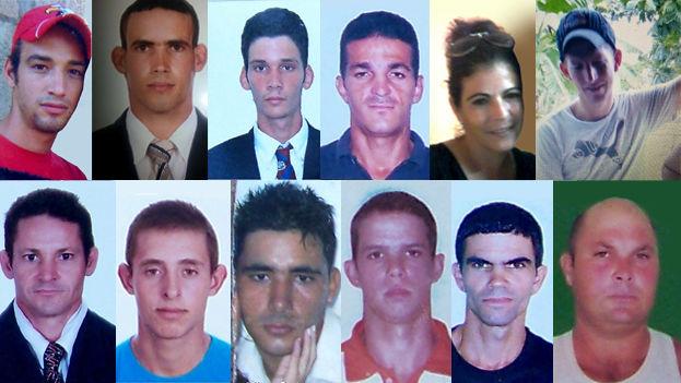 En la imagen, doce de los trece balseros desaparecidos que zarparon desde Cuba en diciembre de 2015. (14ymedio)