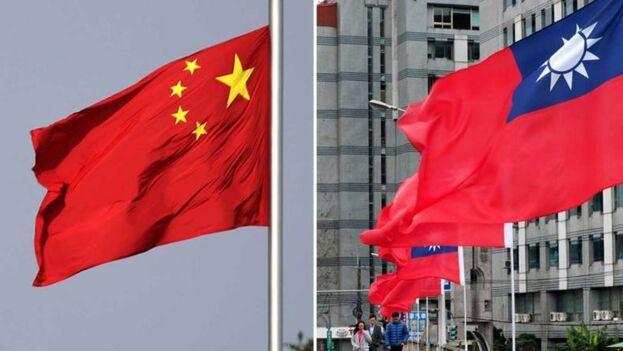 Las banderas de China y Taiwan en una imagen de archivo. (EFE)