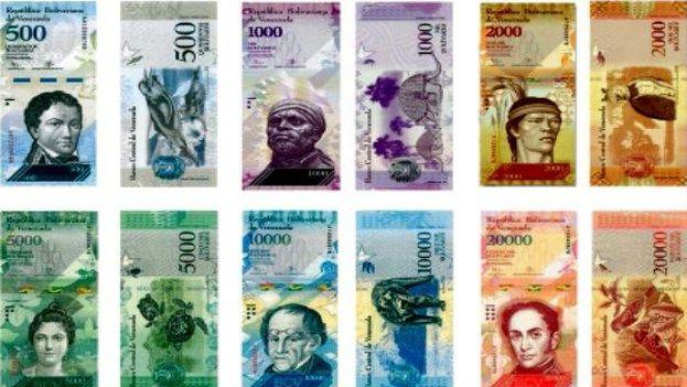 Los billetes de 500, 5.000 y 20.000 bolívares circulan desde este 16 de enero. (Banco de Venezuela)