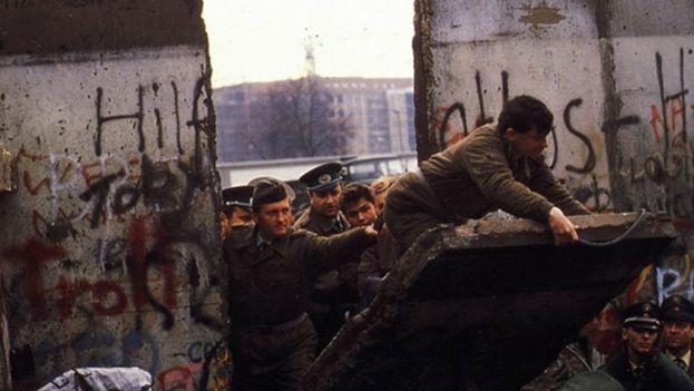 La caída del Muro de Berlín (Foto de archivo)