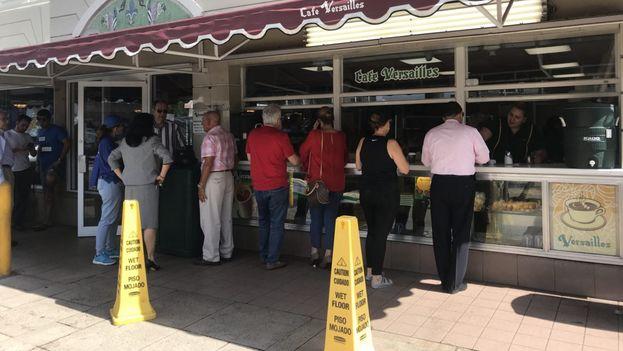 El café Versailles en Miami este miércoles. (14ymedio)