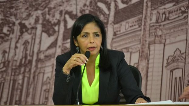 La canciller venezolana Delcy Rodríguez. (Twitter)