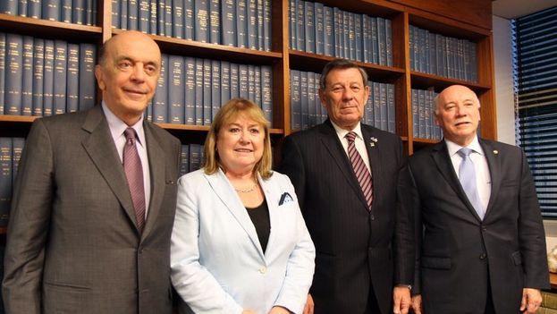 Los cancilleres de los países fundadores del Mercosur se reúnen este sábado en Sao Paulo. (EFE)