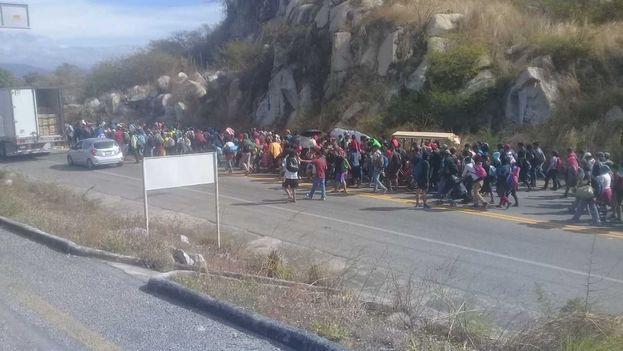 La caravana migrante sigue avanzando hacia el norte desde Honduras. (Milenio)