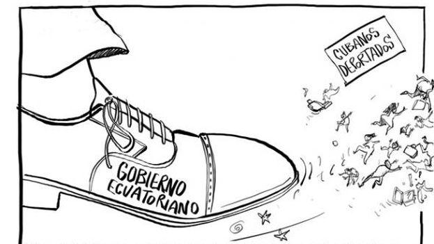 La caricatura de Bonil del 11 de julio para 'El Universo'.