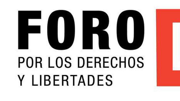 El cartel del Foro por los Derechos y las Libertades. (14ymedio)